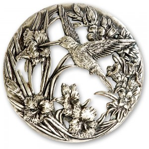 Craftprokits Pewter Lid - Hummingbird
