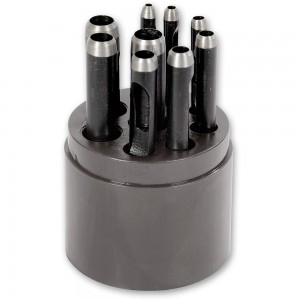 Axminster 9 Piece Hollow Punch Set
