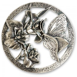 Craftprokits Pewter Lid - Butterfly