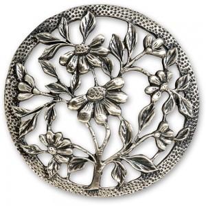 Craftprokits Pewter Lid - Flowers