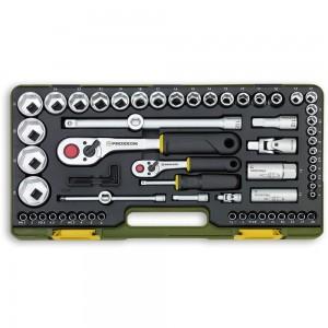 """Proxxon 65 Piece Metric Socket Set (1/4"""" & 1/2"""")"""