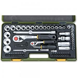 """Proxxon 65 Piece Imperial Socket Set (1/4"""" & 1/2"""")"""