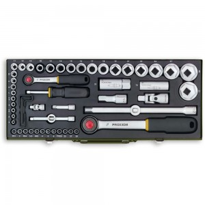 "Proxxon 56 Piece Industrial Socket Set (1/4"" & 1/2"")"