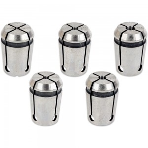 Proxxon 5 Piece Collet Set for PF 400 & FF 500