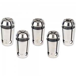 Proxxon 5 Piece Collet Set for PF 230 & FF 230