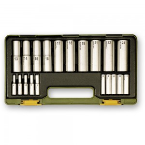 "Proxxon 20 Piece Deep Socket Set (1/4"" & 1/2"")"