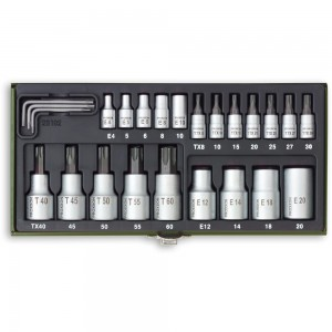 "Proxxon 23 Piece Torx Socket Set (1/4"" & 1/2"")"