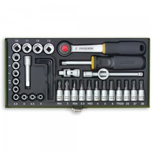 "Proxxon 36 Piece Precision Engineer's Socket Set (1/4"")"