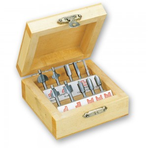Proxxon 10 Piece Wood Router Bit Set