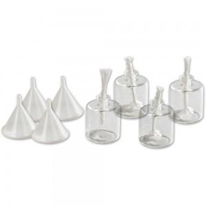 Craftprokits Glass Oil Lights (Pack of 4)