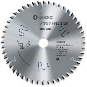 Bosch 165mm Top Precision Circular Saw Blades