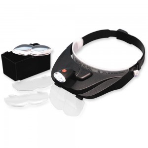 LightCraft Deluxe LED Headband Magnifier Kit