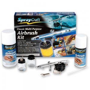 SprayCraft SP50K Dual Action Airbrush Kit