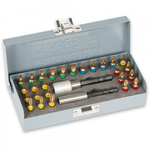 Axminster Trade Bitz 28 Piece Universal TiN Coated Bit Set