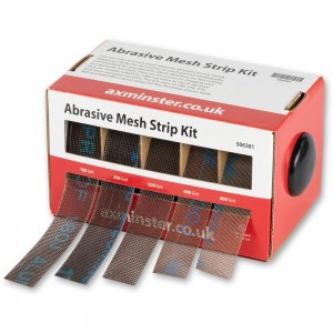 Axminster Abrasive Mesh Strip Kit