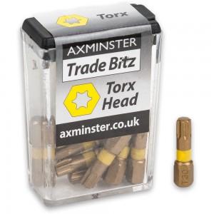 Axminster Trade Bitz TiN T30 S/Driver Bits 25mm (Pkt 10)