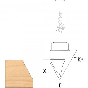 Axcaliber 60 Degree Vee Groove Cutter