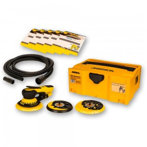 Mirka DEROS 5650CV Random Sander Solution Kit with 50 Abranet Discs + Hose