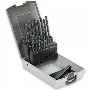 Axminster 19 Piece Metric M2 Drill Bit Set