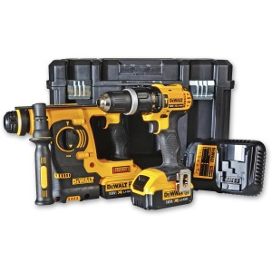 DeWALT DCK206M2 Combi & SDS+ Drill Twin Pack 18V (4.0Ah)