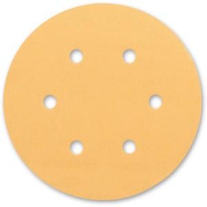 Bosch C470 Gold 150mm 6 Hole Abrasive Discs
