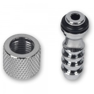 "Air Brush Fitting Joiner, 1/8"" BSP Female -1/8"" Hose End"