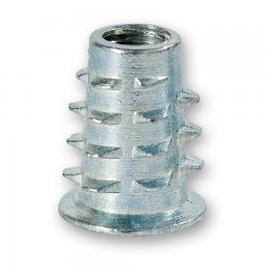 Axminster Threaded Metal Inserts for Wood - M6 (Pkt 10)