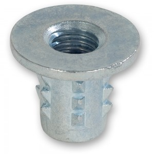Axminster Threaded Metal Inserts for Wood - M8 (Pkt 10)