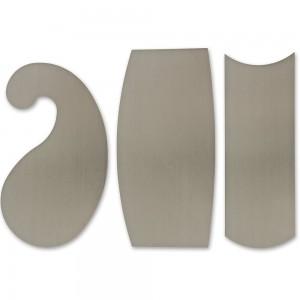 "Veritas Super-Hard Curved Cabinet Scrapers - Set of 3 x 0.6mm(0.024"")"