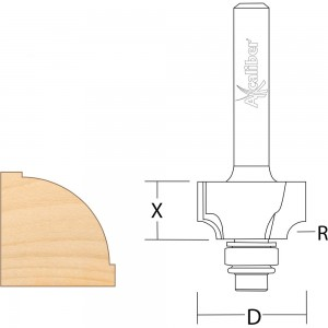 Axcaliber Ovolo/Roundover Cutters