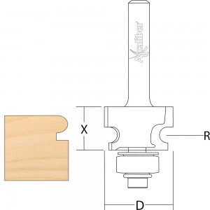 """Axcaliber Edge Beading Router Cutters - 1/4"""" Shank"""