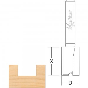 Axcaliber Hinge Recessing Router Cutters