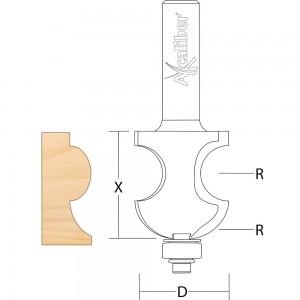 Axcaliber Victorian Torus Moulding Cutter