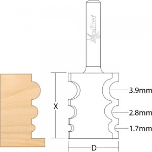 Axcaliber Multi-Radius Beading Cutter