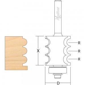 Axcaliber Convex Multi-Bead Cutter