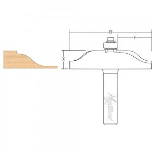 Axcaliber Ogee Panel Raising Cutter
