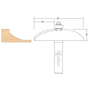 Axcaliber Radiused Panel Raising Cutter