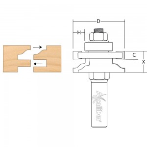 Axcaliber Reversible Stile & Rail Cutter (Ogee)