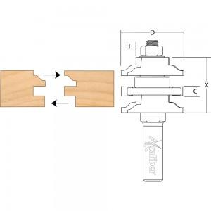 Axcaliber Stile & Rail Cutter (Ogee)