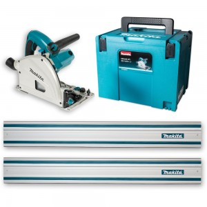 Makita SP6000J1 Plunge Saw & 2 x 1.4m Rails and Connector