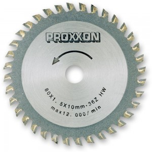 Proxxon TCT Saw Blade  (80mm x 36 teeth)