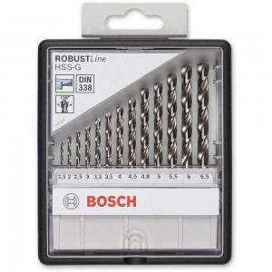 Bosch ROBUSTLine 13 Piece HSS-G Drill Bit Set
