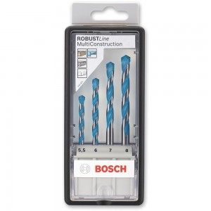 Bosch 4 Piece Multi-Construction Drill Bit Set