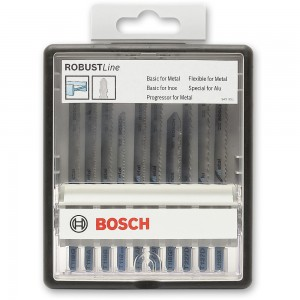 Bosch ROBUSTLine 10 Piece Metal Jigsaw Blade Set