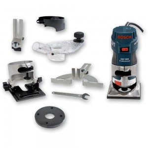 "Bosch GKF 600 Palm Router Kit (1/4"")"
