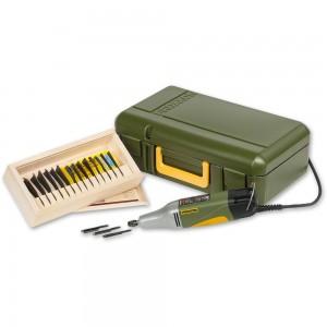 Proxxon MSG Carver & Flexcut RG100 Power Carving Deluxe Set (14 Piece) Package