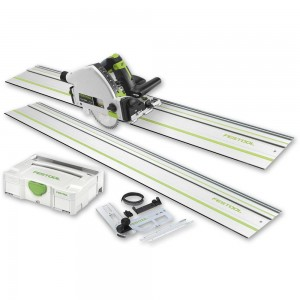 Festool TS 55R EBQ-Plus-FS Plunge Saw, 2 x 1,400mm Rails & Accessory Kit