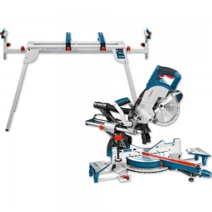 Bosch GCM 8 SJL 216mm Slide Mitre Saw and GTA 2600 Stand - PACKAGE