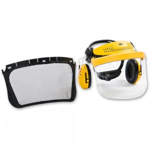 3M G500 Face Shield and Ear Defender Combination inc Mesh Visor