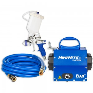 Fuji Mini-Mite 4 Turbine Platinum Unit & T75 Gravity Spray Gun